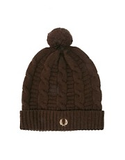 Fred Perry Beanie Hat with Bobble