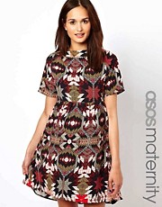 ASOS Maternity Smock Dress in Aztec Print
