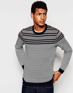 ASOS Jumper with Mixed Design