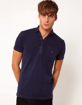 Image 1 ofDiesel T-Erinniy Neck Logo Polo