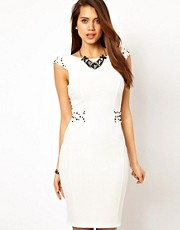 Lipsy Body-Conscious Dress with Embellished Details