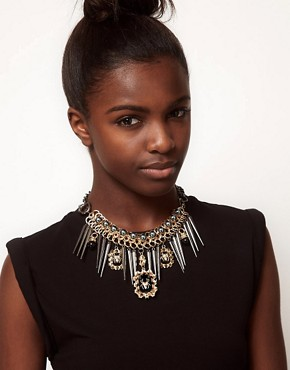 Image 3 ofASOS Premium Spider Jewel &amp; Spike Necklace