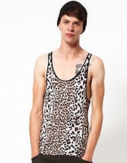 Unconditional Vest with Leopard Print
