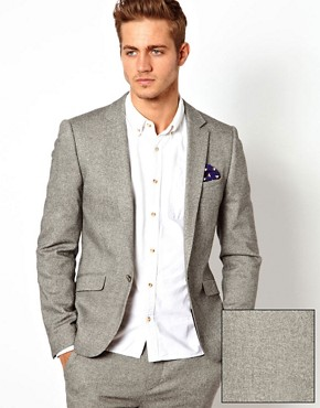 ASOS Slim Fit Suit Jacket in Tweed