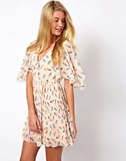 Darling Dress With Feather Print