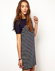 Whistles Matty Stripe Bubble Dress