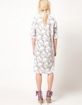 Image 2 ofASOS Africa Midi Shirt Dress With Zebra Print