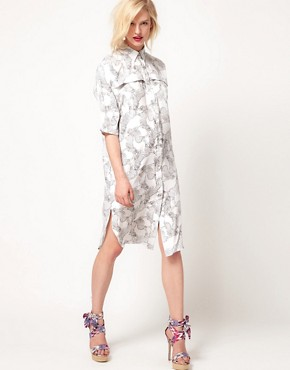 Image 4 ofASOS Africa Midi Shirt Dress With Zebra Print