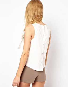 Image 2 ofASOS Sleeveless Top With Structured Bow