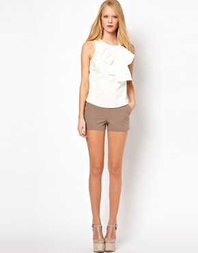 Image 4 ofASOS Sleeveless Top With Structured Bow