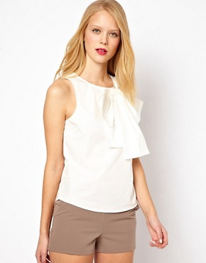 Image 1 ofASOS Sleeveless Top With Structured Bow