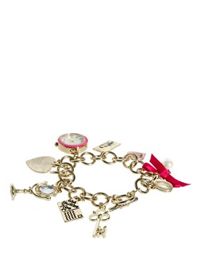Image 2 of Accessorize Watch Charm Bracelet With Postcard Charms
