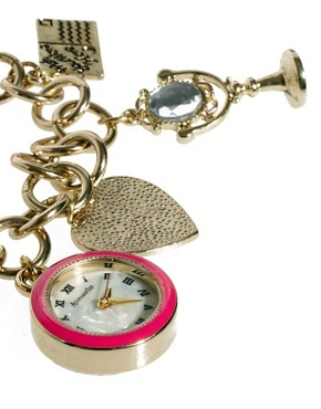 Image 4 of Accessorize Watch Charm Bracelet With Postcard Charms