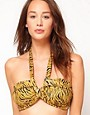 Image 1 ofFrench Connection Winter Willow Grecian Wrap Bikini Top