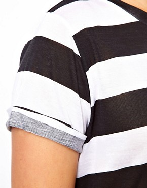 Image 3 ofASOS CURVE Exclusive Stripe T-Shirt