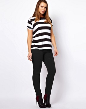 Image 4 ofASOS CURVE Exclusive Stripe T-Shirt