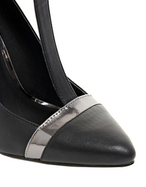 Image 2 ofASOS PROMOTE Pointed High Heels with T-Bar