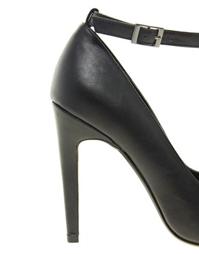 Image 4 ofASOS PROMOTE Pointed High Heels with T-Bar