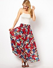 French Connection Tahiti Floral Beach Maxi Skirt