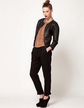 Image 1 ofDagmar Jade Classic Trousers With Pleat Detail