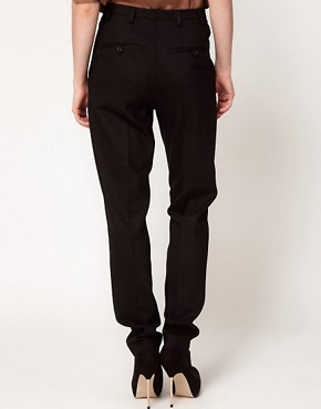 Image 2 ofDagmar Jade Classic Trousers With Pleat Detail