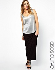 ASOS CURVE Exclusive Maxi Skirt In Jersey