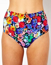 ASOS Floral High Waist Bikini Pant