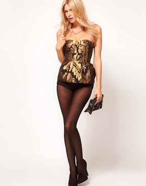 Image 4 ofASOS PETITE Exclusive Corset Playsuit With Peplum