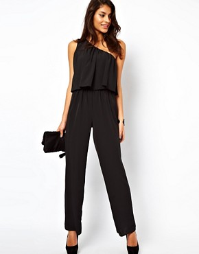 ASOS | ASOS Jumpsuit with One Shoulder at ASOS :  straight jumpsuit drape one shoulder