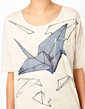 Image 3 ofSelected Origami Print T-Shirt