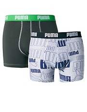 Puma Logo Authentical 2 Pack Trunks