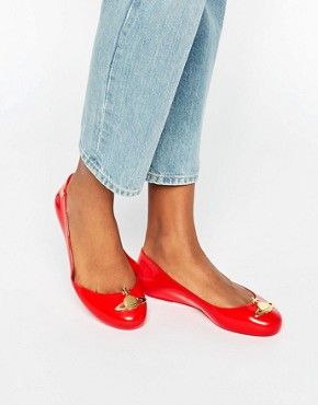 Vivienne Westwood for Melissa Space Love Orb Red Flat Shoes
