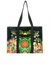 Bolso shopper con diseo de jardn Moon de Blue Q