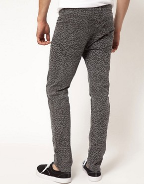 Image 2 ofASOS Skinny Jeans With Animal Print