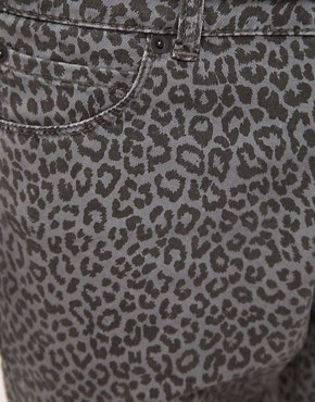 Image 3 ofASOS Skinny Jeans With Animal Print