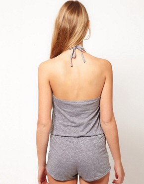 Image 2 ofAmerican Apparel Tri- Blend Halter Romper