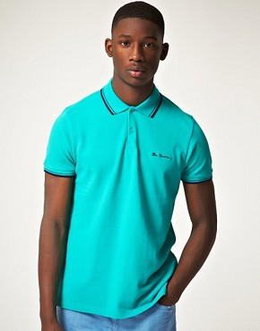 Image 1 ofBen Sherman Romford Tipped Pique Polo Shirt