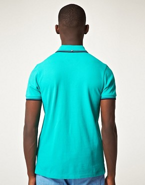 Image 2 ofBen Sherman Romford Tipped Pique Polo Shirt