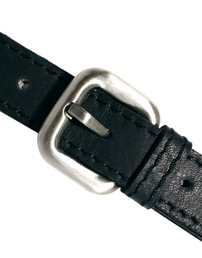 Image 2 ofUrban Code Leather Belt with Double Strap Detail