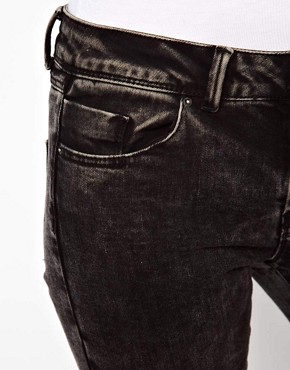 Image 3 ofASOS Skinny Jeans in Black Acid Wash