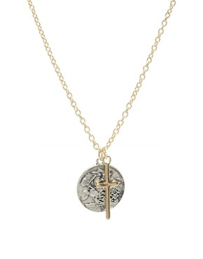 Image 1 ofASOS Coin Charm Necklace