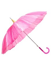 Fulton Pagoda Pink Daisy Umbrella