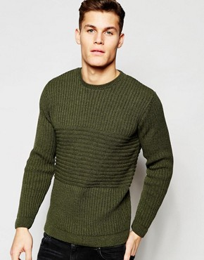 ASOS Jumper with Mixed Ribs