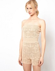 Ivana Helsinki Silk Mix Playsuit