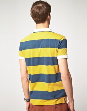 Image 2 of River Island Rugby Stripe Polo Shirt