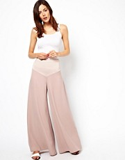ASOS Palazzo Pants with Satin Waist Detail