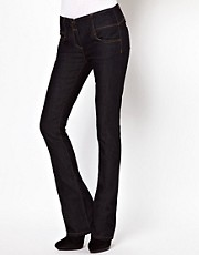 ASOS Super Sexy Flare with Stitch Detail in Dark Indigo #17