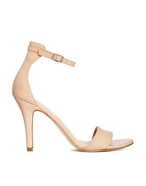 New Look - 4 - Sandales minimalistes chic à talons - Rose