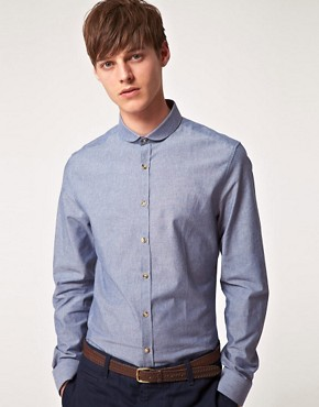 Image 1 ofASOS Smart Shirt with Contrast Buttons