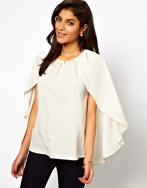 Image 1 ofASOS Top With Soft Cape Sleeve